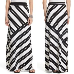 WHBM Diagonal Stripe Maxi Skirt
